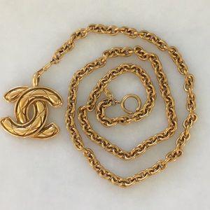 "Chanel gold chain belt 39"""